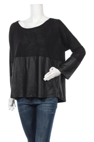 Дамска блуза Suiteboutique, Размер L, Цвят Черен, 60% вискоза, 40% полиестер, Цена 12,97лв.