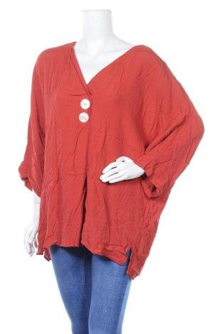 Дамска блуза Suzanne Grae, Размер XL, Цвят Кафяв, Вискоза, Цена 16,80лв.