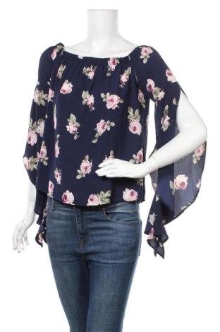 Дамска блуза Ultra Flirt, Размер M, Цвят Син, 97% полиестер, 3% еластан, Цена 13,97лв.