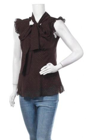 Γυναικεία μπλούζα Un Deux Trois, Μέγεθος M, Χρώμα Καφέ, 99% πολυεστέρας, 1% μεταλλικά νήματα, Τιμή 9,55€