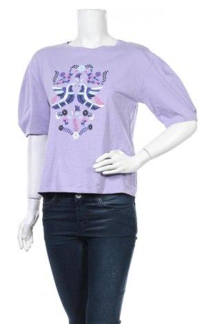 Дамска блуза Uniqlo, Размер S, Цвят Лилав, Памук, Цена 12,50лв.