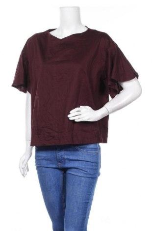 Дамска блуза Uniqlo, Размер XL, Цвят Червен, Памук, Цена 23,21лв.