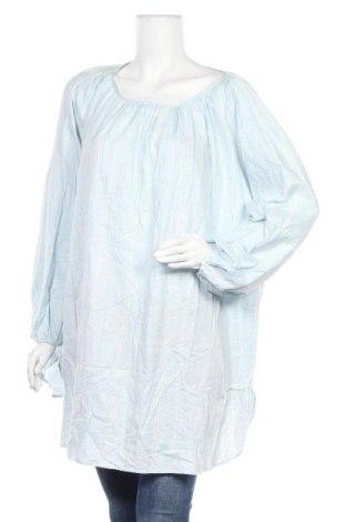 Дамска блуза Uniqlo, Размер 4XL, Цвят Син, Памук, Цена 29,40лв.
