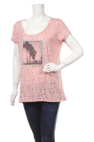 Дамска блуза Up 2 Fashion, Размер L, Цвят Розов, 58% полиестер, 48% памук, Цена 12,60лв.