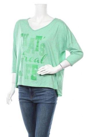 Дамска блуза Up 2 Fashion, Размер M, Цвят Зелен, 60% памук, 40% полиестер, Цена 13,23лв.