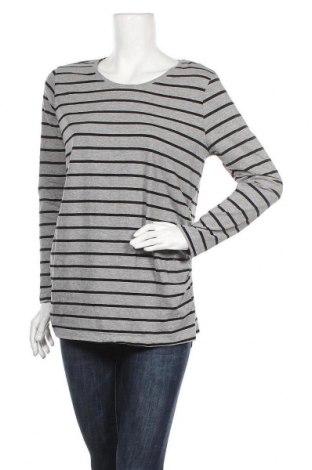 Дамска блуза Up 2 Fashion, Размер M, Цвят Сив, 80% памук, 15% вискоза, 5% еластан, Цена 13,23лв.