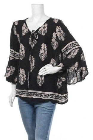 Дамска блуза Zanzea, Размер L, Цвят Черен, Вискоза, Цена 8,51лв.