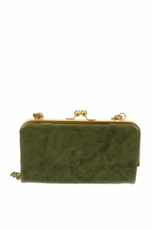 Дамска чанта, Цвят Зелен, Естествена кожа, Цена 43,89лв.