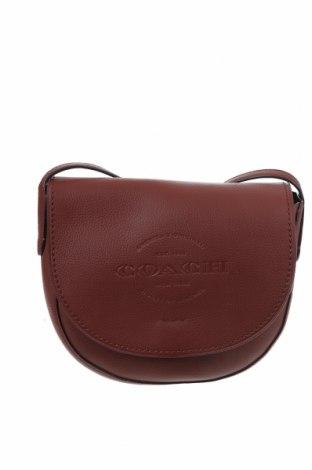 Γυναικεία τσάντα Coach, Χρώμα Καφέ, Γνήσιο δέρμα, Τιμή 110,29€