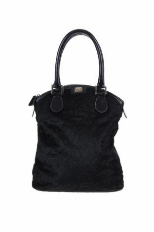 Γυναικεία τσάντα Gianfranco Ferre, Χρώμα Μαύρο, Φυσική τρίχα, γνήσιο δέρμα, Τιμή 84,96€