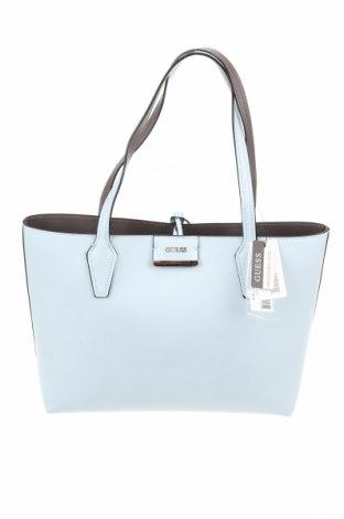 Γυναικεία τσάντα Guess, Χρώμα Μπλέ, Δερματίνη, Τιμή 73,07€