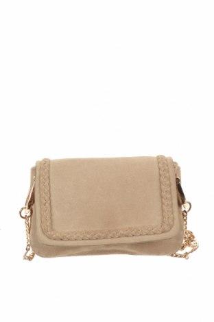 Γυναικεία τσάντα H&M, Χρώμα  Μπέζ, Φυσικό σουέτ, Τιμή 15,20€