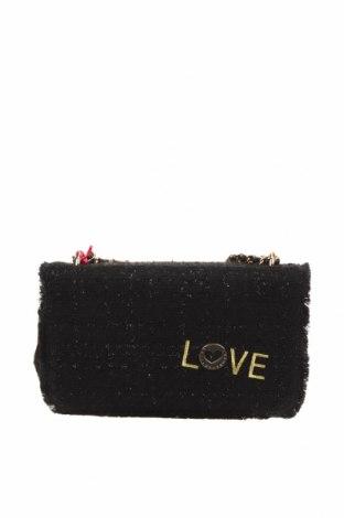 Дамска чанта Lola Casademunt, Цвят Черен, Текстил, Цена 45,22лв.