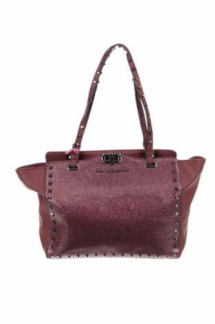 Дамска чанта Lola Casademunt, Цвят Червен, Еко кожа, Цена 42,57лв.