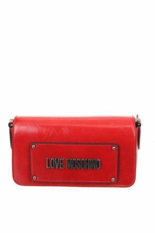 Дамска чанта Love Moschino, Цвят Червен, Еко кожа, Цена 147,60лв.