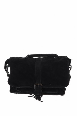Γυναικεία τσάντα Mango, Χρώμα Μαύρο, Φυσικό σουέτ, Τιμή 27,22€