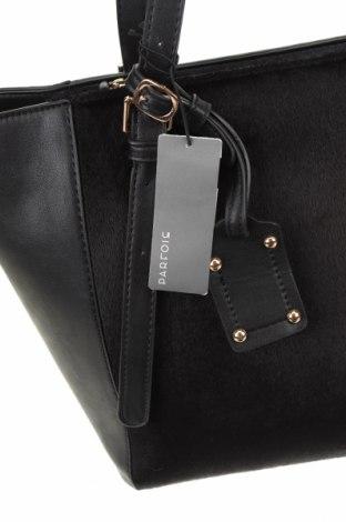 Дамска чанта Parfois, Цвят Черен, Еко кожа, текстил, Цена 31,74лв.
