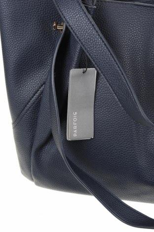 Дамска чанта Parfois, Цвят Син, Еко кожа, Цена 37,26лв.