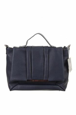 Дамска чанта Sandro Ferrone, Цвят Син, Естествена кожа, Цена 269,37лв.