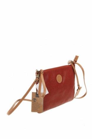 Дамска чанта Timberland, Цвят Червен, Еко кожа, естествена кожа, Цена 55,77лв.