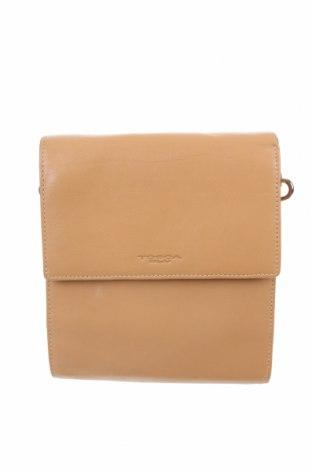 Γυναικεία τσάντα Tosca Blu, Χρώμα  Μπέζ, Γνήσιο δέρμα, Τιμή 31,55€