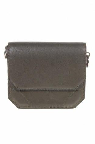 Дамска чанта Zara Trafaluc, Цвят Зелен, Еко кожа, текстил, Цена 25,73лв.