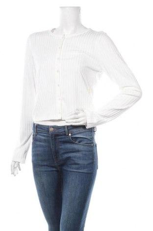 Γυναικεία ζακέτα Gina Tricot, Μέγεθος XL, Χρώμα Λευκό, 74% πολυεστέρας, 5% ελαστάνη, Τιμή 10,72€