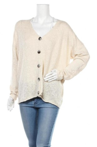 Дамска жилетка Zara Knitwear, Размер M, Цвят Бежов, 92% акрил, 8% полиестер, Цена 43,07лв.