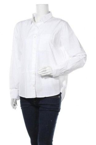 Дамска риза, Размер 3XL, Цвят Бял, Памук, Цена 28,50лв.