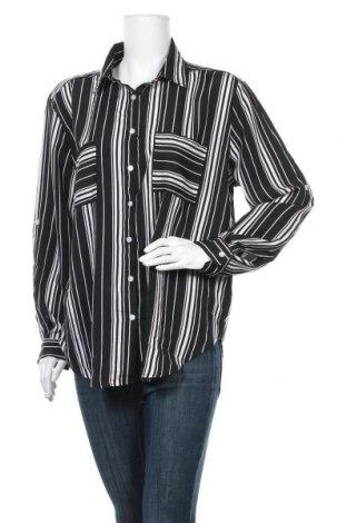 Γυναικείο πουκάμισο Ally, Μέγεθος XL, Χρώμα Μαύρο, Πολυεστέρας, Τιμή 5,45€