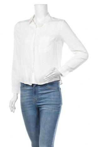 Дамска риза Bershka, Размер S, Цвят Бял, Цена 15,75лв.