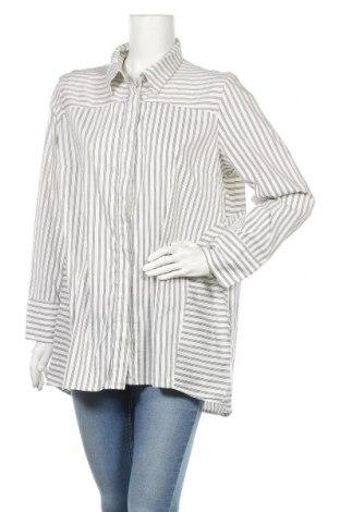 Дамска риза Blue Illusion, Размер XL, Цвят Бял, 70% памук, 27% полиамид, 3% еластан, Цена 16,07лв.
