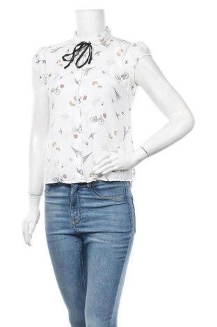 Дамска риза Clockhouse, Размер S, Цвят Бял, Вискоза, Цена 14,18лв.