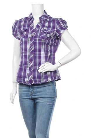 Дамска риза Colours Of The World, Размер L, Цвят Лилав, 65% памук, 31% полиестер, 4% еластан, Цена 13,23лв.