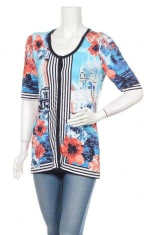 Дамска риза G.W., Размер M, Цвят Многоцветен, 92% вискоза, 8% еластан, Цена 7,73лв.
