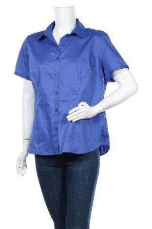Дамска риза George, Размер XL, Цвят Син, 62% памук, 35% полиестер, 3% еластан, Цена 15,75лв.