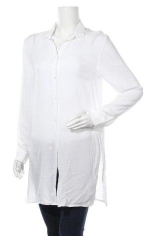 Дамска риза H&M, Размер M, Цвят Бял, Вискоза, Цена 15,44лв.