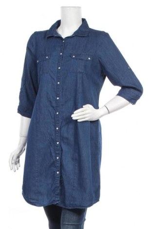 Γυναικείο πουκάμισο Infinity Woman, Μέγεθος M, Χρώμα Μπλέ, Βαμβάκι, Τιμή 14,94€