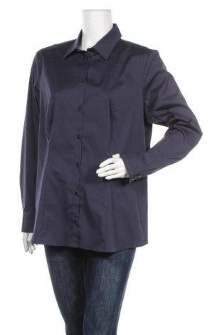 Дамска риза Jb, Размер XL, Цвят Син, 75% памук, 20% полиамид, 5% еластан, Цена 39,00лв.