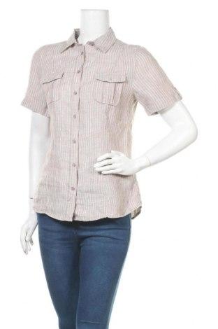 Дамска риза Marco Pecci, Размер M, Цвят Бежов, Лен, Цена 13,23лв.