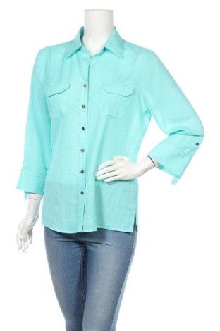 Дамска риза Marks & Spencer, Размер L, Цвят Син, Полиестер, Цена 19,50лв.
