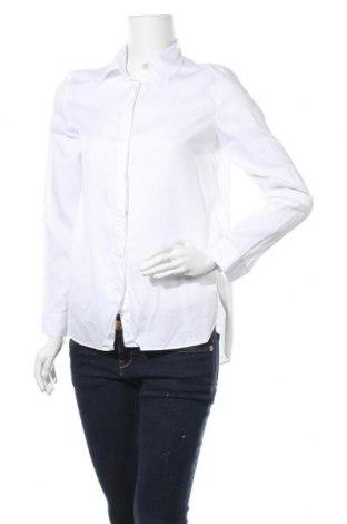 Дамска риза Massimo Dutti, Размер S, Цвят Бял, 63% лиосел, 37% памук, Цена 49,50лв.