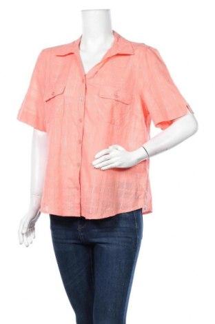 Дамска риза Noni B, Размер XL, Цвят Оранжев, 98% памук, 2% метални нишки, Цена 4,99лв.
