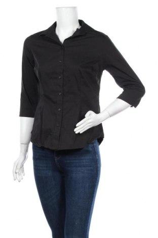 Дамска риза Papaya, Размер M, Цвят Черен, 69% памук, 28% полиестер, 3% еластан, Цена 16,96лв.