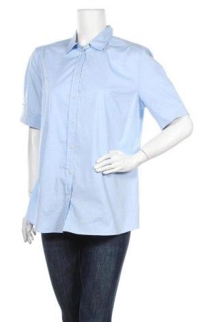 Дамска риза Seidensticker, Размер L, Цвят Син, 97% памук, 3% еластан, Цена 32,12лв.