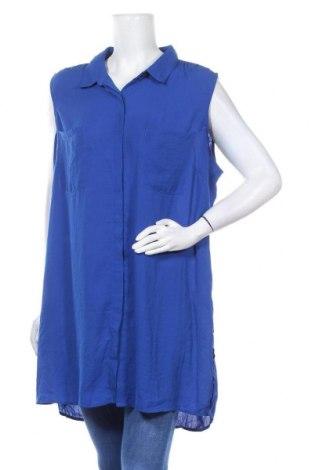 Дамска риза Suzanne Grae, Размер XXL, Цвят Син, Полиестер, Цена 18,90лв.