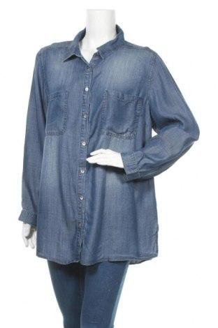 Γυναικείο πουκάμισο Suzanne Grae, Μέγεθος XL, Χρώμα Μπλέ, Lyocell, Τιμή 10,52€