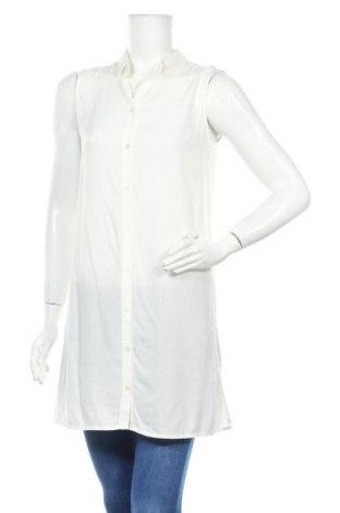 Дамска риза Terranova, Размер S, Цвят Бял, Вискоза, Цена 17,96лв.