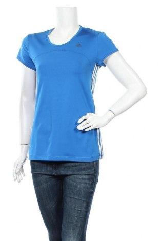 Γυναικεία αθλητική μπλούζα Adidas, Μέγεθος M, Χρώμα Μπλέ, 88% πολυεστέρας, 12% ελαστάνη, Τιμή 11,82€