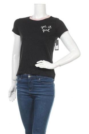 Дамска тениска, Размер M, Цвят Черен, Памук, Цена 14,49лв.